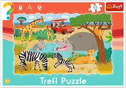 TREFL Puzzle Ramkowe 15 el. SAFARI (31217)