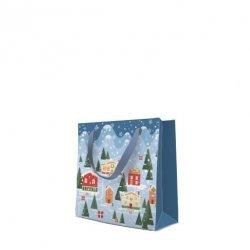 Torebka świąteczna CHRISTMAS VILLAGE, Paw (AGB02004510)