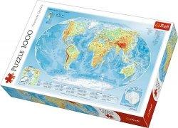 TREFL Puzzle 1000 el. Mapa fizyczna świata (10463)
