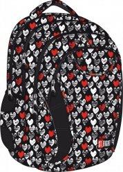 Plecak młodzieżowy ST.RIGHT w biało czerwone - serduszka HEARTBEAT BP02 (11889)