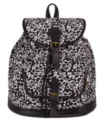 Plecak miejski młodzieżowy COOLPACK FIESTA w biało czarne ornamenty, ARABESQUE 1027 (72342)