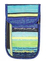 Portfel saszetka na szyję COOLPACK TOURIST w niebieskie i żółte pasy BLUE LAGOON  (61223)