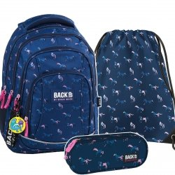 ZESTAW 3 el. Plecak szkolny młodzieżowy BackUP KONIE (PLB2A17SET3CZ)