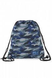 WOREK CoolPack SPRINT LINE niebieskie moro, CAMO MESH GREY (B74067)