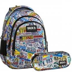 ZESTAW 2 el. Plecak szkolny młodzieżowy BackUP TABLICE (PLB2H41SET2CZ)