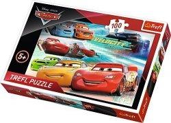 TREFL Puzzle 100 el. CARS AUTA, Bohaterowie wyścigu (16337)
