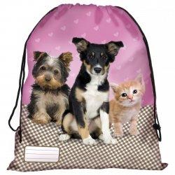 Worek na obuwie STAR ANIMALS z psem kotem psami kotami (WOSA10)