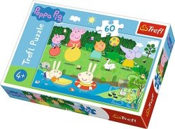 TREFL Puzzle 60 el. Wakacyjna zabawa, Świnka Peppa (17326)