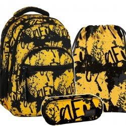 ZESTAW 3 el. Plecak szkolny młodzieżowy BackUP RUNY (PLB2M43SET3CZ)
