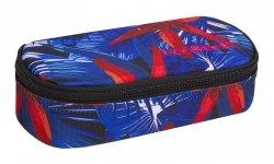 Piórnik szkolny COOLPACK CAMPUS czerwone kawiaty na niebieskim tle, HAWAIAN BLUE (88169CP)