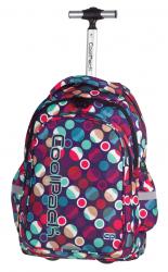 Plecak CoolPack JUNIOR na kółkach w kolorowe kropki, MOSAIC DOTS 721 (72557)