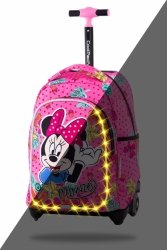 ZESTAW 2 el. Plecak CoolPack JACK LED na kółkach Myszka Minnie, MINNIE MOUSE TROPICAL (B52301SET2CZ)