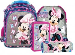 Plecak szkolny Myszka Minnie (PL15BMM21SET4CZ) ZESTAW 4 el.