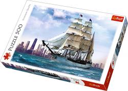 TREFL Puzzle 500 el. Żaglowiec na tle Chicago (37120)