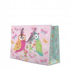Torebka na prezenty MAGICAL OWLS Magiczne sowy, Paw (AGB1004106)