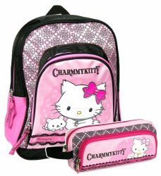 Plecak przedszkolny, wycieczkowy + piórnik Charmmy Kitty (PL12CKSET) Zestaw