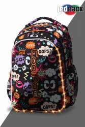 Plecak CoolPack LED JOY M komiksy COMICS (94481)