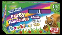 Farby plakatowe brokatowe BAMBINO 6 kolorów (05022)