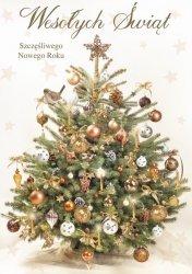 Kartka świąteczna BOŻE NARODZENIE 12 x 17 cm + koperta (41317)