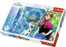 TREFL Puzzle 200 el. Kraina Lodu Frozen, Moc sióstr (13207)
