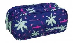 Piórnik CoolPack CLEVER dwukomorowy saszetka różowe rekiny na granatowym tle, PINK SHARKS (86950CP)