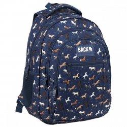 Plecak szkolny młodzieżowy BackUP 26 L KONIE (PLB3O32)