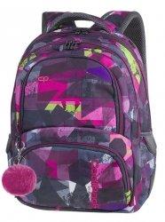 b6f890705edcf Plecak CoolPack SPINER różowe wzory geometryczne, PINK ABSTRACT z pomponem  (86957CP)