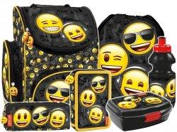 ZESTAW 6 el. Tornister szkolny ergonomiczny Emoji EMOTIKONY (TEMBEM10SET6CZ)
