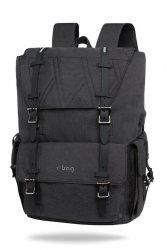 Plecak męski na laptop 13-15,6 z USB Packer Black Czarny R-Bag (Z011)