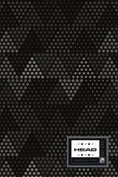 Brulion zeszyt HEAD B5 160 kartek w kratkę, twarda oprawa w szare trójkąty, GREY TRIANGLES HD-374 (101019003)