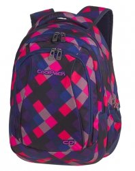 Plecak CoolPack COMBO 2w1 kolorowe romby, ELECTRIC PINK (82270CP)