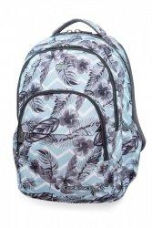 Plecak CoolPack BASIC PLUS w kwiatki na błękitnym tle, SURF PALMS (B03021)
