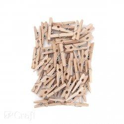 Mini klamerki drewniane 2,5 cm 40 szt (CEOZ-127)