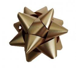 Rozetka wstążka do pakowania prezentów ZŁOTA 5 cm