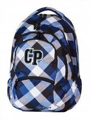 Plecak szkolny młodzieżowy CoolPack COLLEGE czarny w szaro, niebieską kratę CAMBRIDGE 465 (59466)