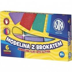 Modelina z brokatem 6 kolorów ASTRA (304109001)