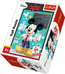TREFL Puzzle mini 54 el. Myszka Mickey, Naukowiec (19553)