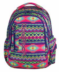 Plecak szkolny młodzieżowy COOLPACK LEADER 2 w kolorowe zygzaki, BOHO ELECTRA 780 (74230)