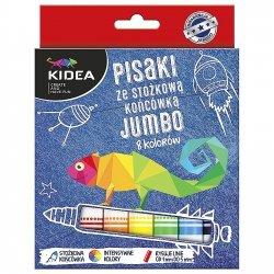 Pisaki ze stożkową końcówką 8 kolorów JUMBO KIDEA (PSKJ8KA)