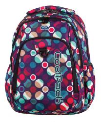 Plecak szkolny młodzieżowy COOLPACK STRIKE w kolorowe kropki, MOSAIC DOTS 719 (72533)