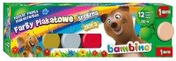 Farby plakatowe BAMBINO 12 kolorów (01581)