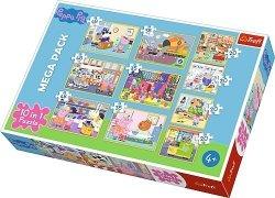 TREFL Puzzle 10 w 1 Świnka Peppa z przyjaciółmi (90358)