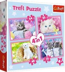 TREFL Puzzle 4 w 1 Kocie zabawy (34330)