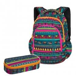 ZESTAW 2 el. Plecak CoolPack PRIME meksykański wzór, MEXICAN TRIP + gratis (85441CPSET2CZ)