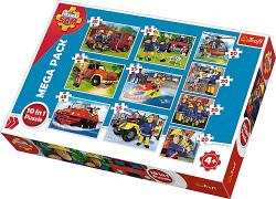 TREFL Puzzle 10 w 1 Strażak Sam, Ekipa ratunkowa Sama (90356)