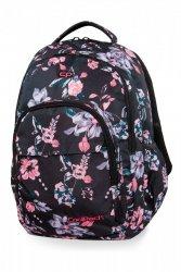 Plecak CoolPack BASIC PLUS w kwiaty na ciemnym tle, DARK ROMANCE (B03020)