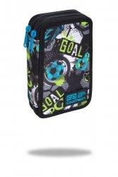 Piórnik CoolPack dwukomorowy z wyposażeniem JUMPER 2 piłka nożna, FOOTBALL (C66230)