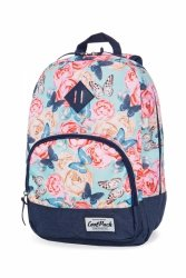 Plecak CoolPack CLASSIC miejski młodzieżowy w kwiaty i motyle, BUTTERFLIES (B06127)