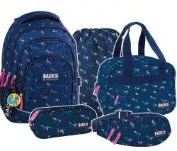 ZESTAW 5 el. Plecak szkolny młodzieżowy BackUP KONIE (PLB2A17SET5CZ)