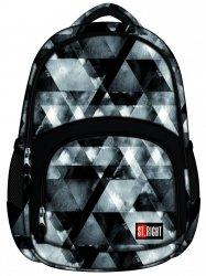 Plecak szkolny młodzieżowy ST.RIGHT czarny w szare trójkąty, WATERCOLOUR BP23 (18000)